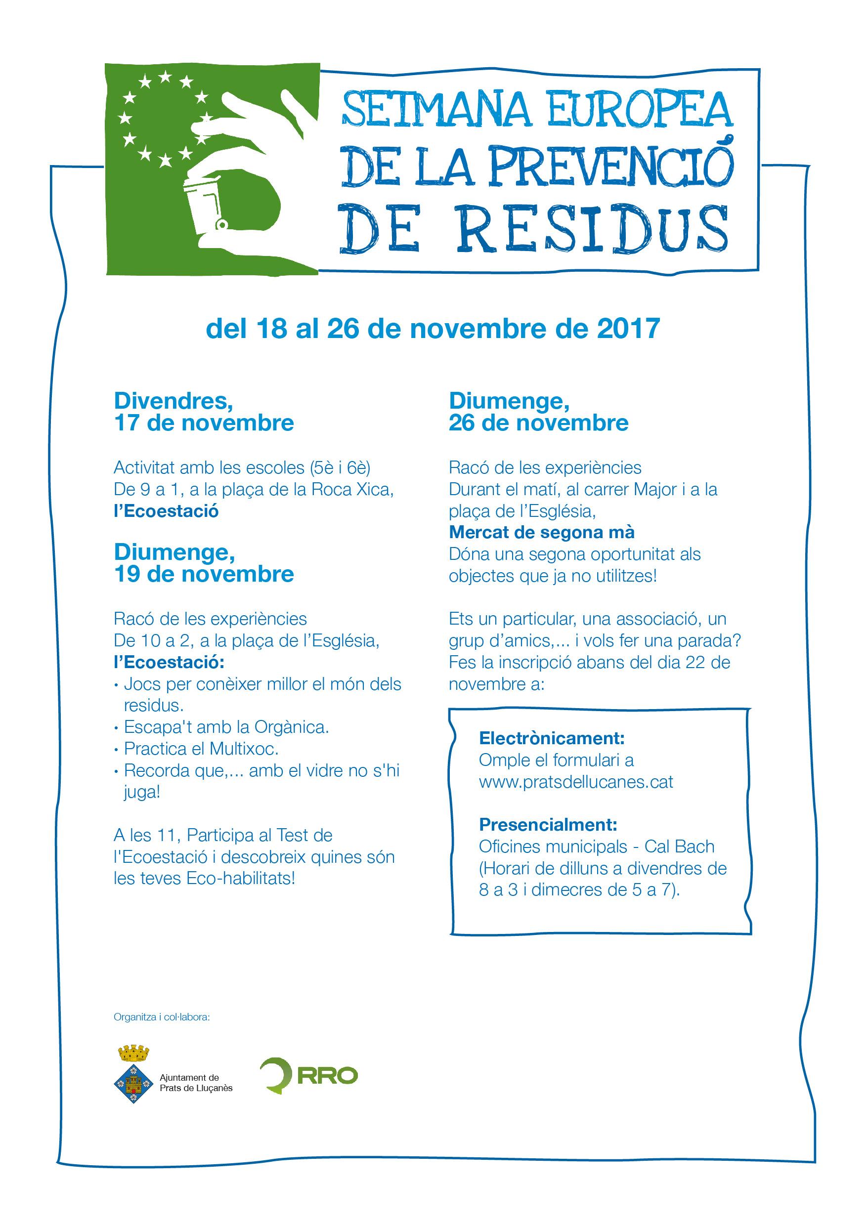 Setmana Europea de Residus 2017